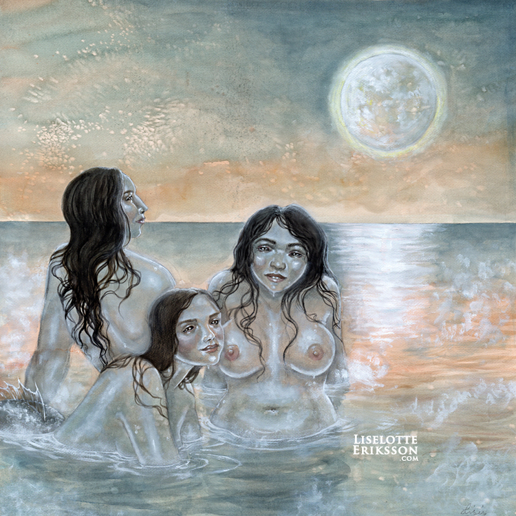'Mermaid Trio' Original Painting