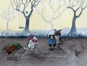 'Hopscotch' Original Painting