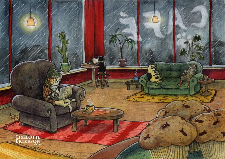 'Coffee Shop' Original Painting