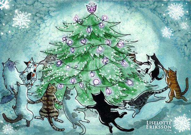 'Catmas Tree' Original Painting