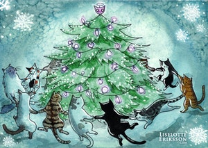 'Catmas Tree' Original Painting