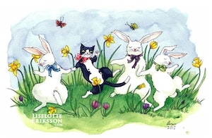 'Easter Frolic' Original Painting