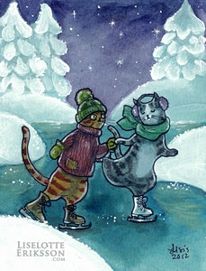 'Ice Skating' Original Painting
