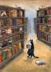 'Librarian' Print / Card