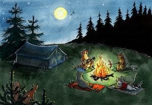 'Happy Campers' Print