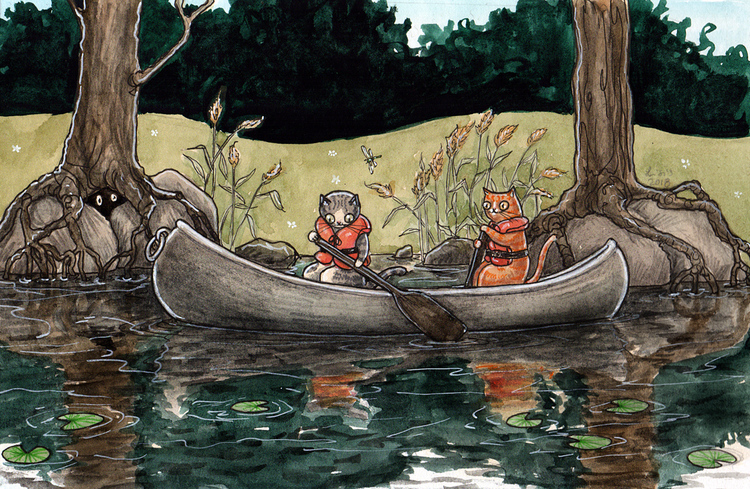 'Canoeing' Print