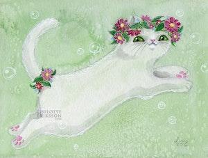 'Flower Kitty' Print