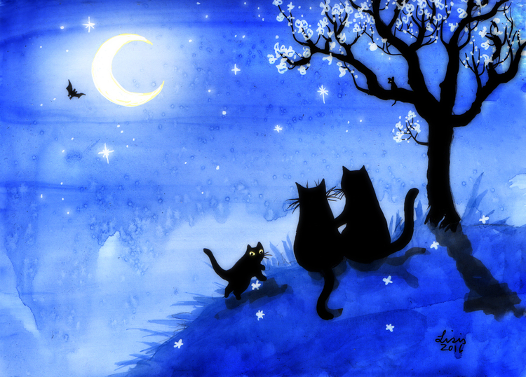 'Blue Night' Print