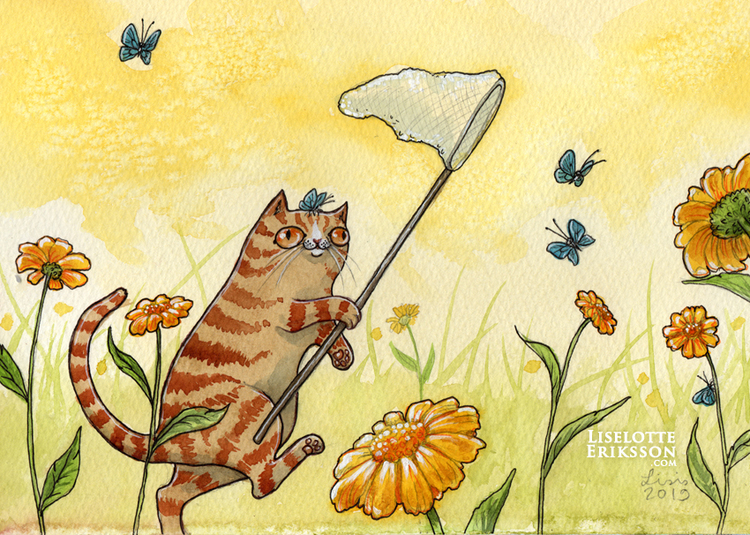 'Catching Butterflies' Print