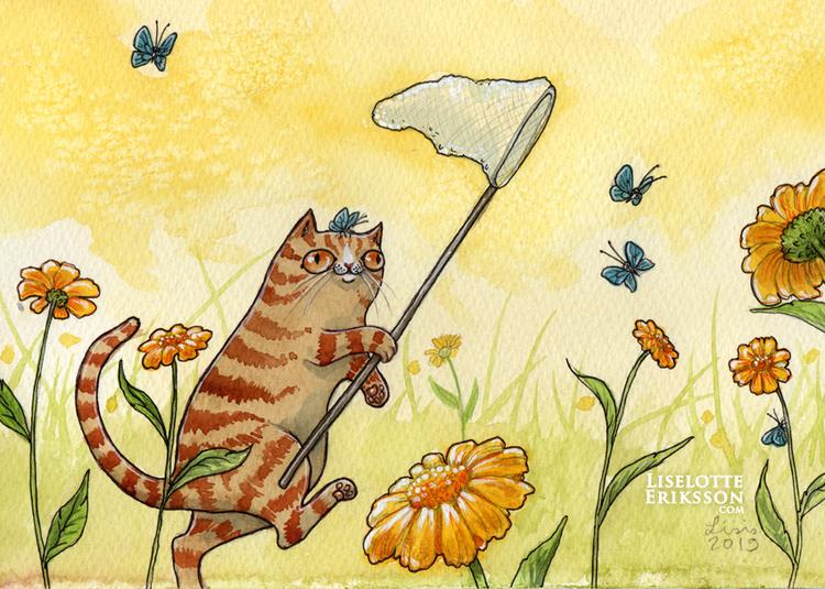 'Catching Butterflies' Print