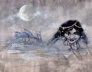 'Moon Mist Mermaid' Print