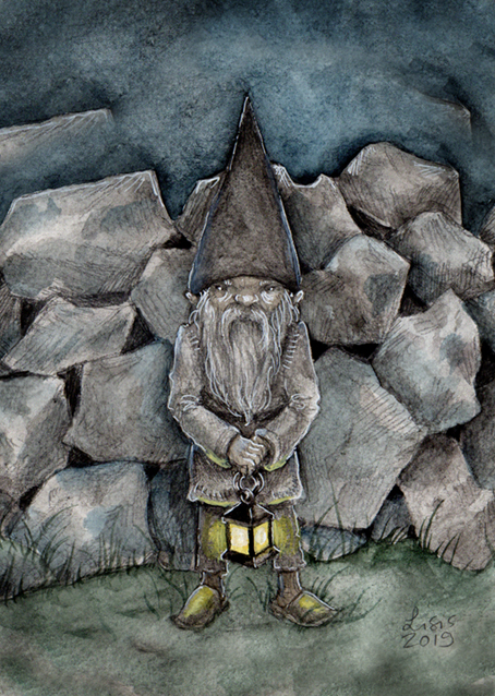 'Grey As The Stones' Print / Card