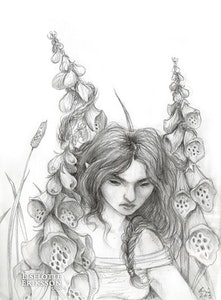 'Foxglove Tangle' Original Drawing