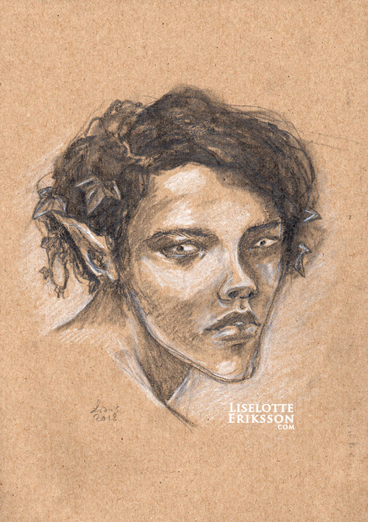 'Elven Boy' Original Drawing