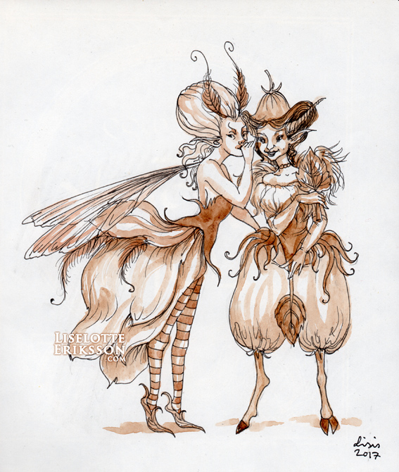 'Gossip' Original Illustration