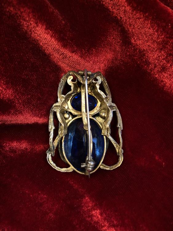 Scarab Beetle Brooch