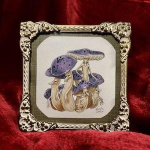 'Mushroom Cluster' Original Framed Painting