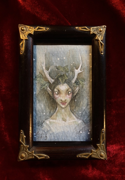 'Night Faun' Original Framed Painting