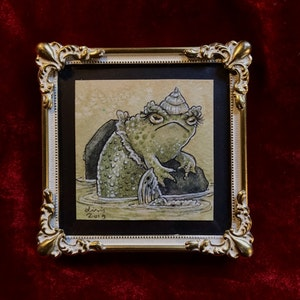 'Mertoad' Original Framed Painting