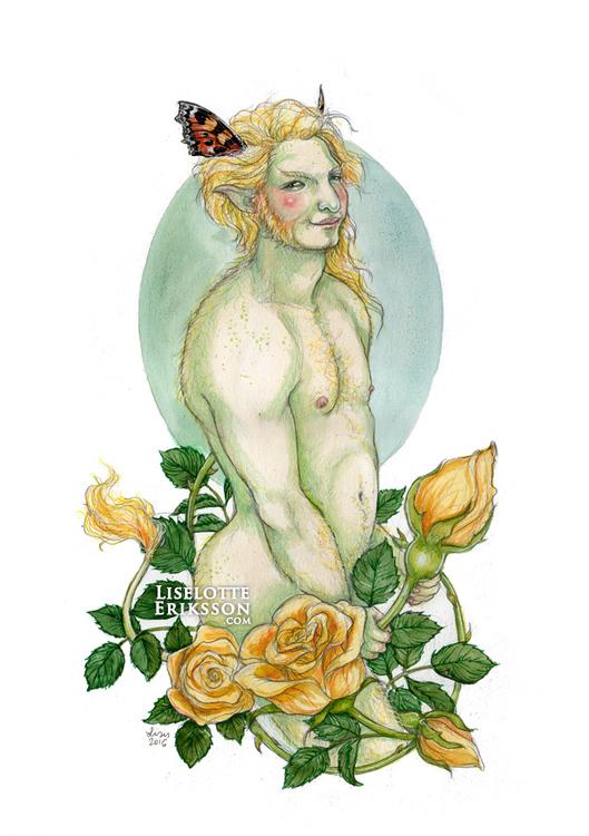 'Yellow Roses' Print