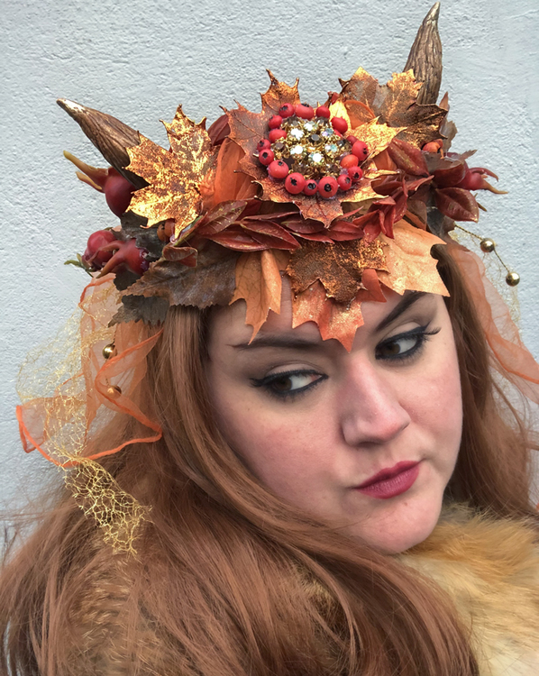 'Autumn Magic' Horned Head Wreath