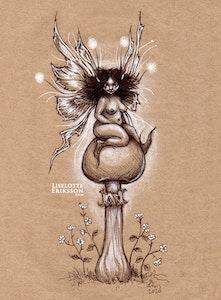 'Mushroom Faerie' Original Drawing