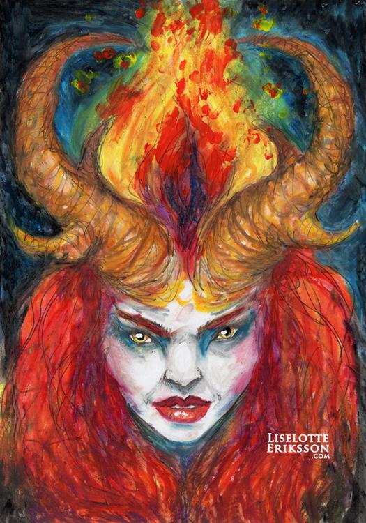 'Fire Goddess' Original Painting