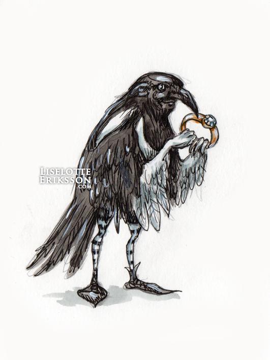 'Magpie Man' Original Drawing