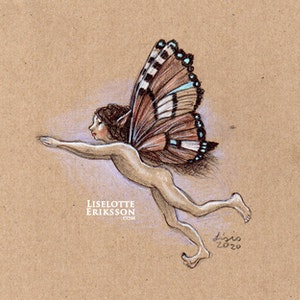 'Strange Butterfly' Original Drawing