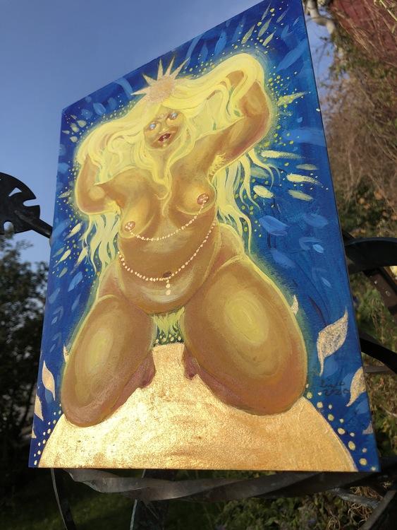 'Sun Goddess' original acrylic painting