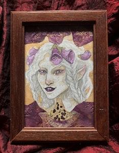 'Foxglove Spirit' Original Framed Painting