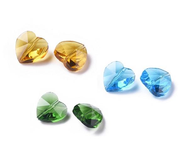 Glas hjärtan , flera olika färger
