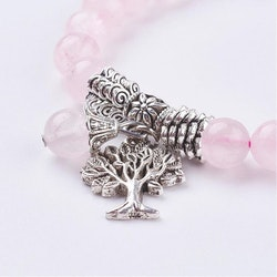PARTI 20 ST Armband, Rosenkvarts med livets träd