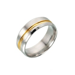""" Stripe "" Ring Rostfritt stål 316L, NU 18 :- st!"