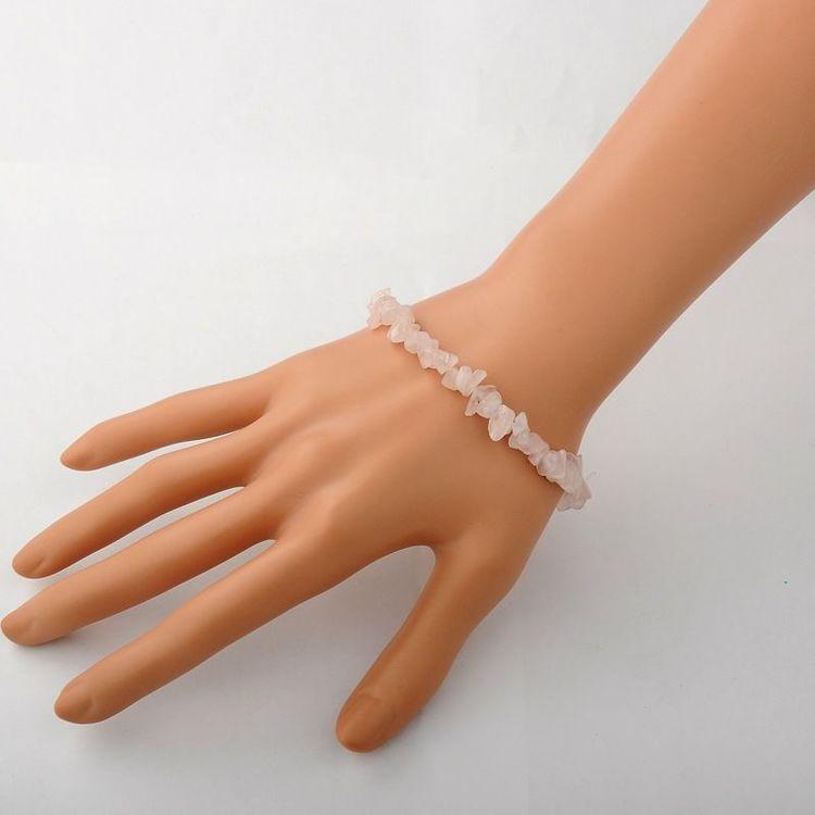 Chips - Armband Rosenkvarts