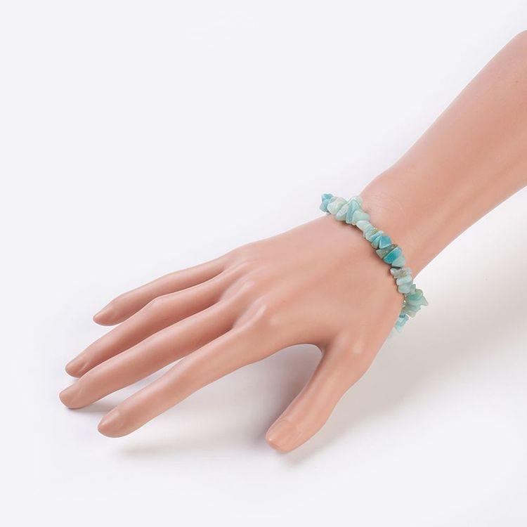 Chips - Armband Amazonit,  I LAGER OKTOBER
