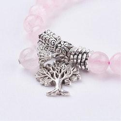 Armband, Rosenkvarts med livets träd