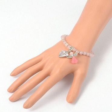 Armband med skyddsängel , Rosenkvarts