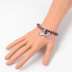 Armband med skyddsängel , Ametist