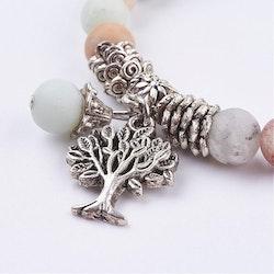 Armband Amazonit med livets träd