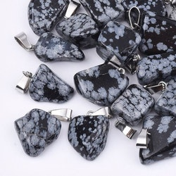 Berlock  Snowflake Obsidian