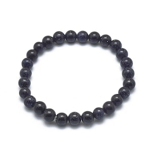 Armband Blue Goldstone