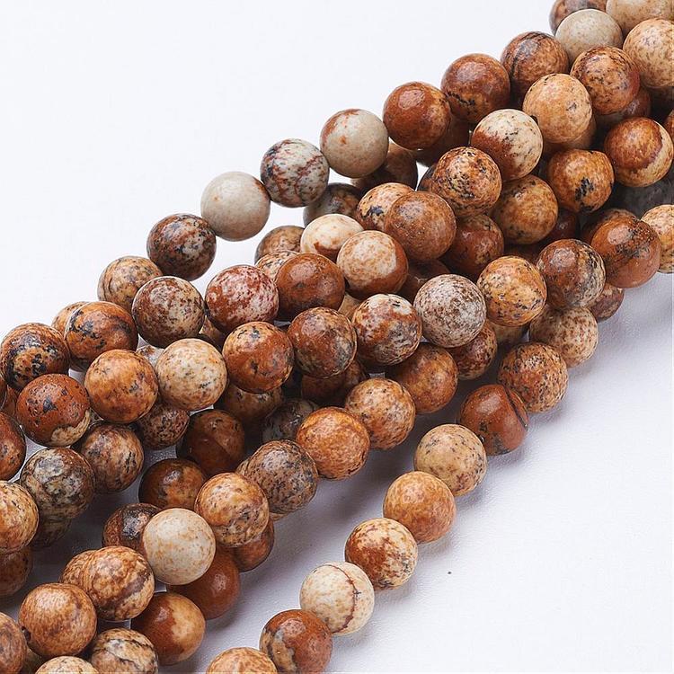 Pärlor Picture jaspis 6mm