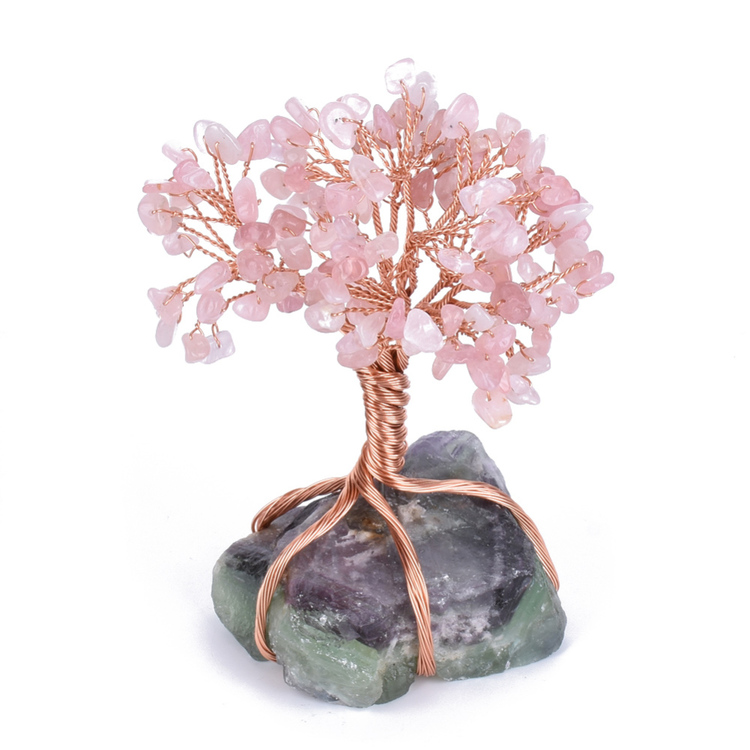 "Tree of Life, "" Lucky tree "" Rosenkvarts, 100 kronor rabatt !"