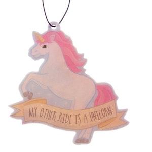 Enhörning Luftfräschare - My other ride is a Unicorn