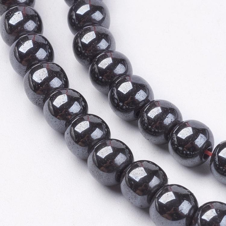 Pärlor Hematit 6mm