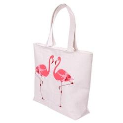 """Handväska """" Flamingo """" med Dragkedja och Foder"""