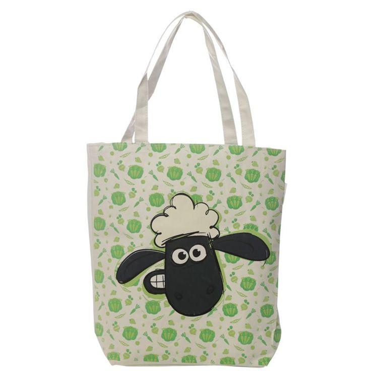 "Shoppingbag "" Fåret Shaun ""med Dragkedja och Foder"