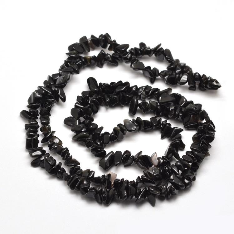 Chips Pärlor Obsidian
