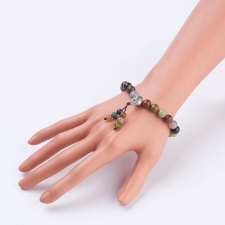 Armband med Indian agat ink presentask